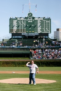 First Pitch At Wrigley Field Photos!