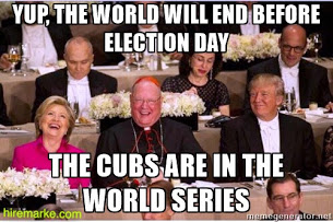 Hillary Clinton, Donald Trump, Timothy Cardinal Dolan discuss the Cubs